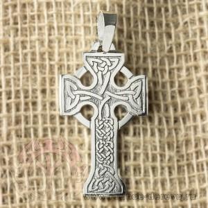 Кельтский крест из серебра
