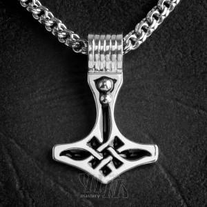 Молот Тора из серебра - эмаль